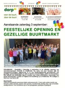 Cover Nieuwsbrief augustus Dorp66